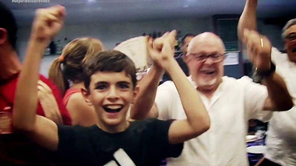 Del sufrimiento a la euforia: Los familiares de Ceballos, Fabián y Dani Olmo celebraron la victoria por todo lo alto