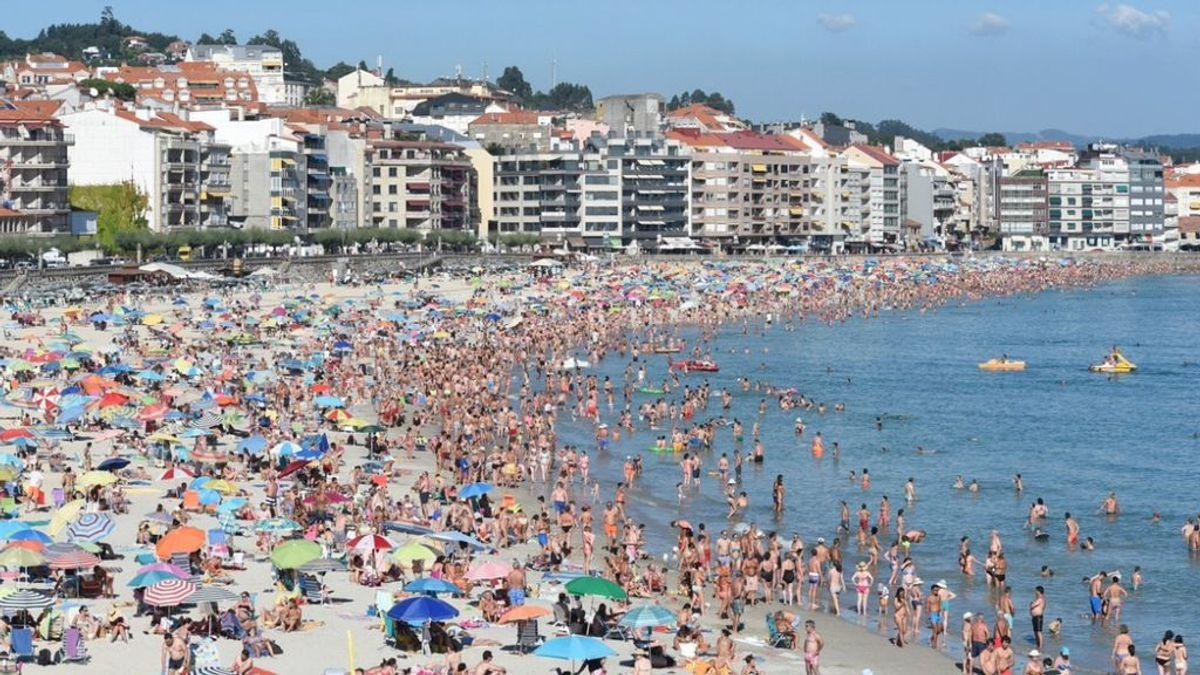 Sanxenxo, de 17.300 habitantes en invierno a 140.000 en pleno verano
