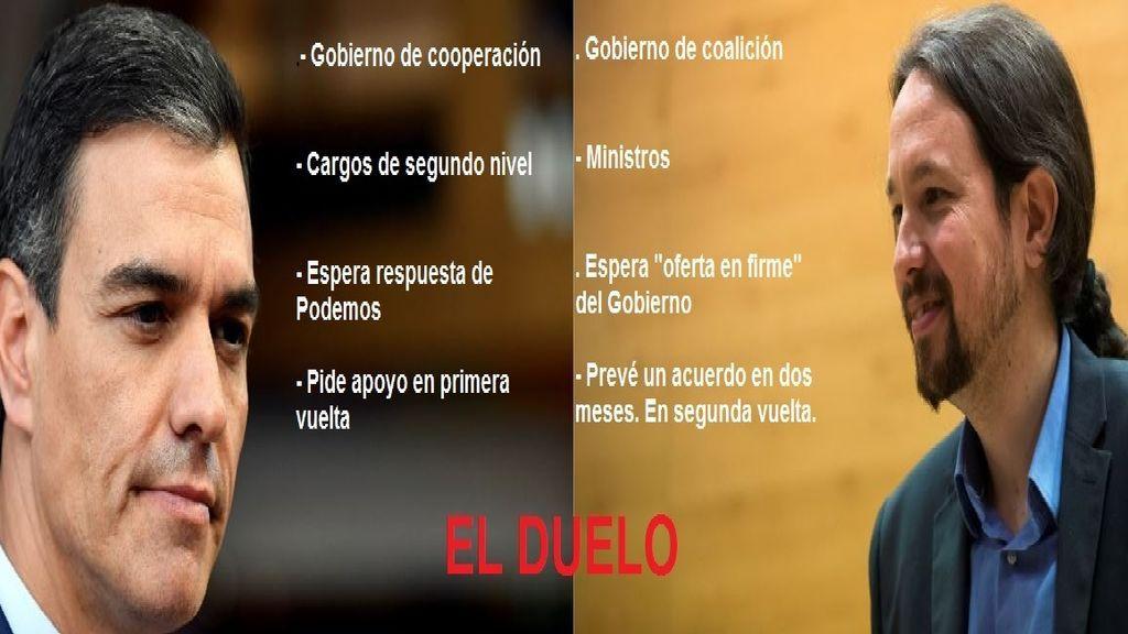 Sánchez e Iglesias tienen 20 días para resolver sus diferencias