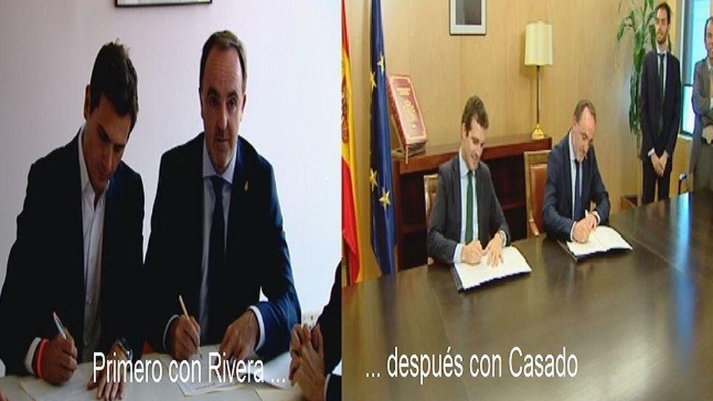 PP y Cs firman por separado una declaración para que Sánchez no pacte con Bildu en Navarra