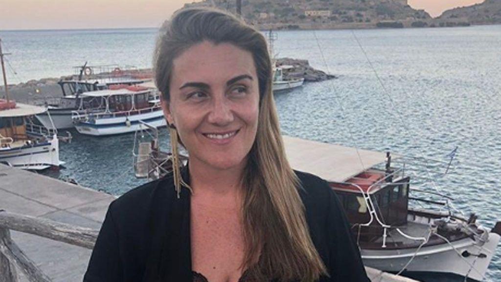"""Carlota Corredera y sus románticas vacaciones griegas con su marido: """"Cara de felicidad"""""""