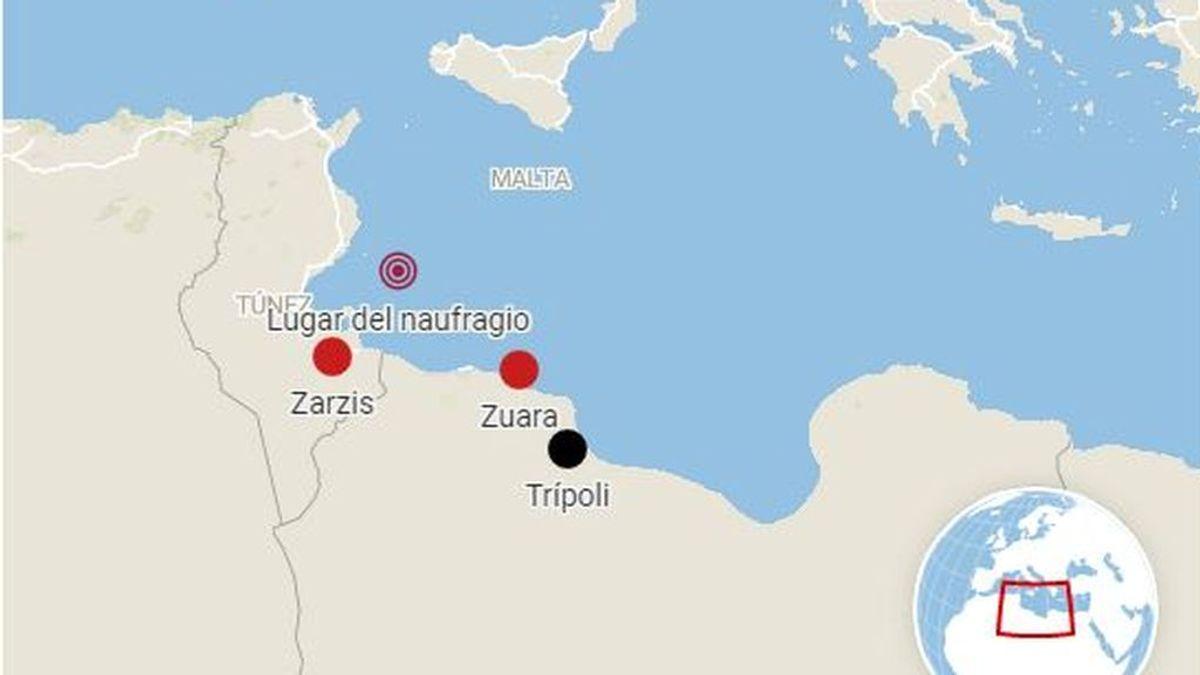 80 desaparecidos al naufragar una patera frente a las costas de Túnez