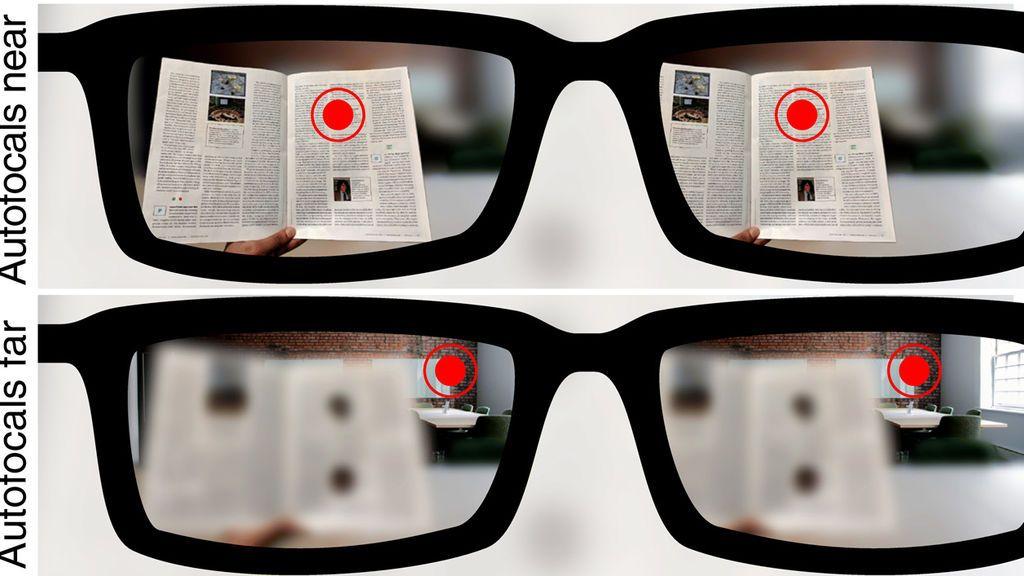 Visión con el prototipo de las nuevas gafas autofocales