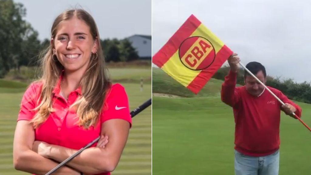 La golfista española fallecida Celia Barquín es homenajeada en el campo de Llanes con un simbólico cambio de bandera