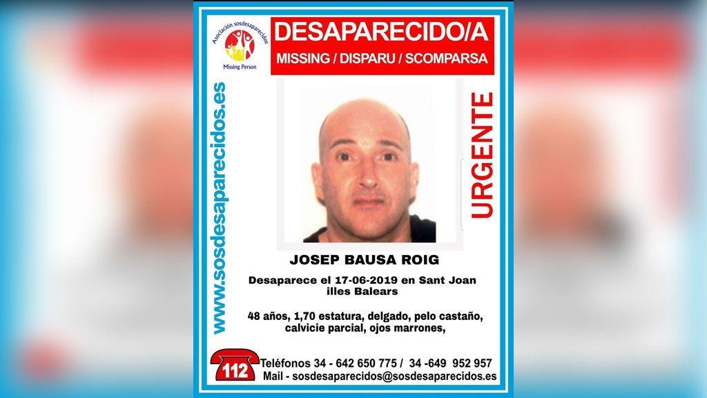 Buscan a Josep Bausa, un hombre de 48 años desaparecido en Mallorca