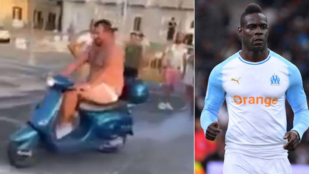 La última de Mario Balotelli: Desafía al dueño de un bar a tirarse desnudo en scooter al río a cambio de 2000 euros