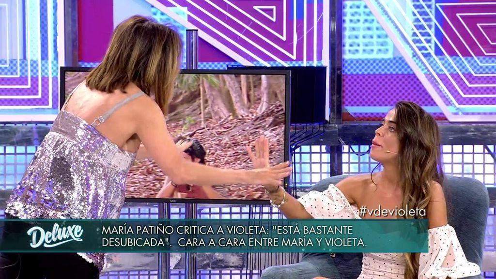 Violeta y Patiño, cara a cara