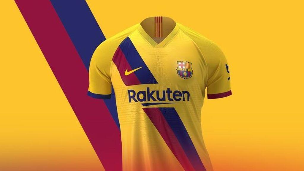 El Barça presenta su segunda equipación: de amarillo para homenajear a La Masía