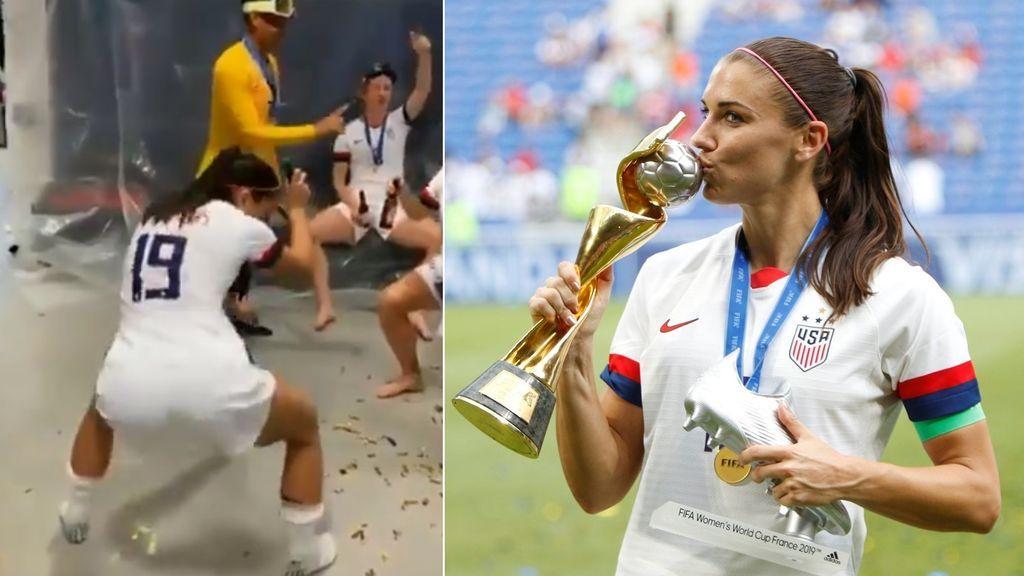 El baile de la estadounidense Alex Morgan tras ganar el mundial femenino: Lo celebra con un 'perreo'
