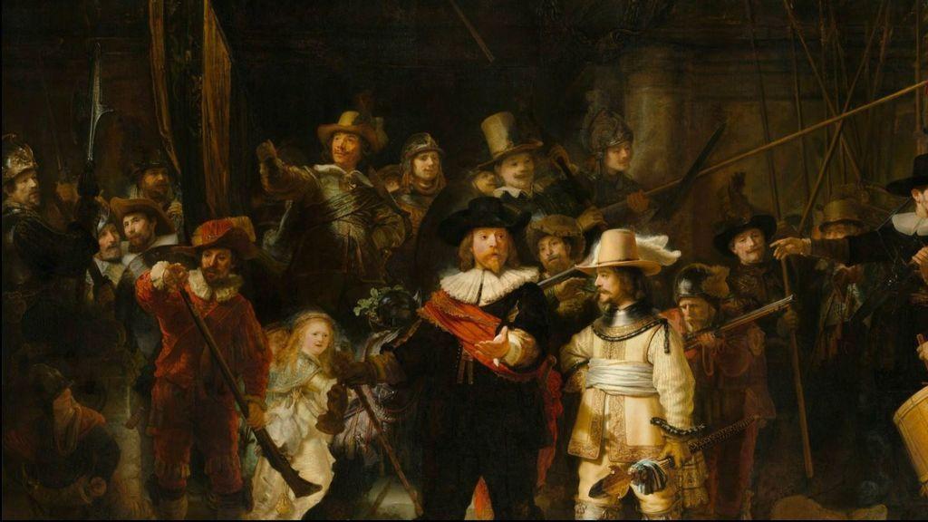 'Ronda de noche': Rembrandt restaurado en directo