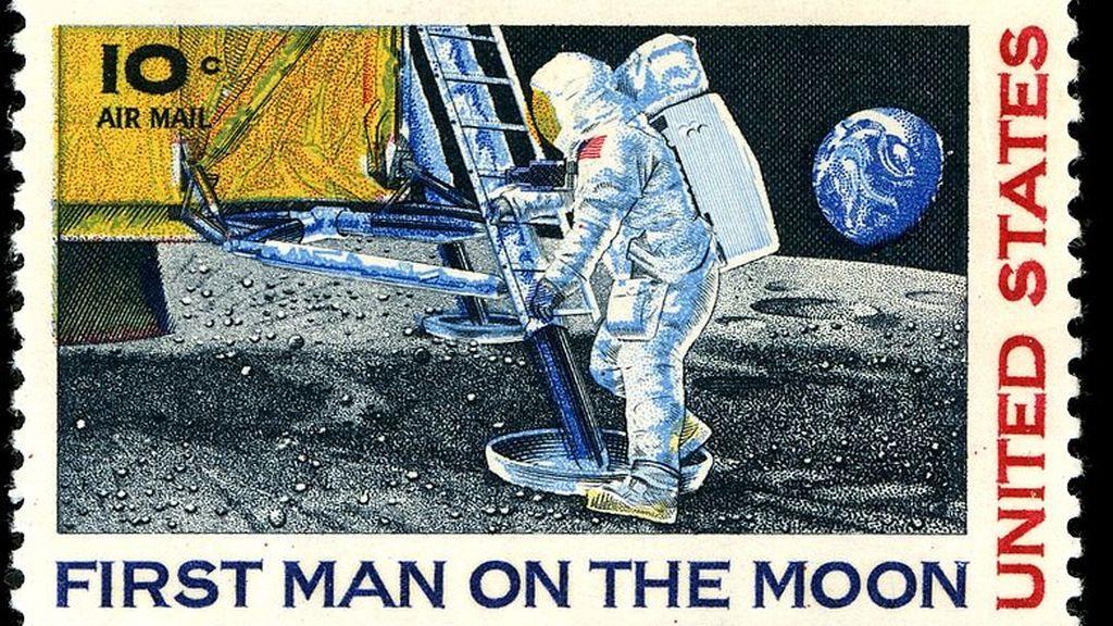 Sello del primer hombre en la Luna