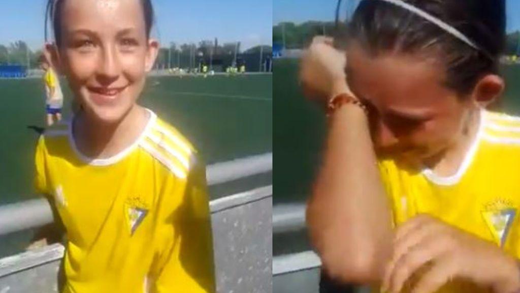 """""""Cadismo en vena"""": La reacción de una niña al conocer que hará la pretemporada en el club de sus amores"""