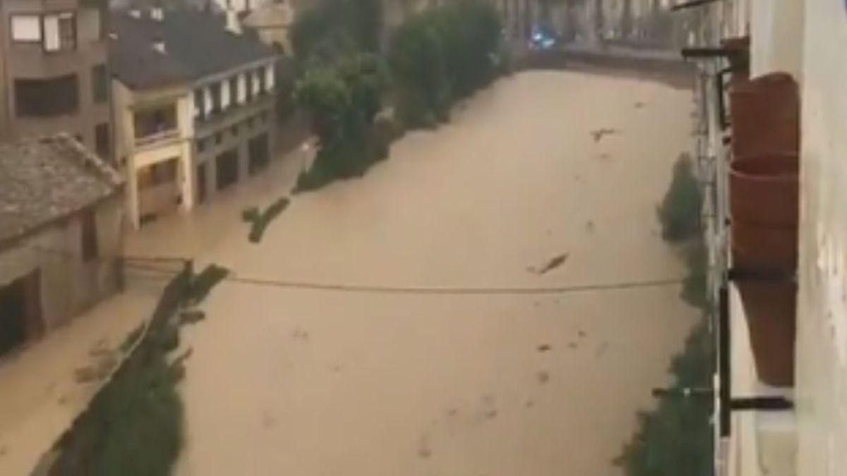 La alerta de lluvias en Navarra fue insuficiente