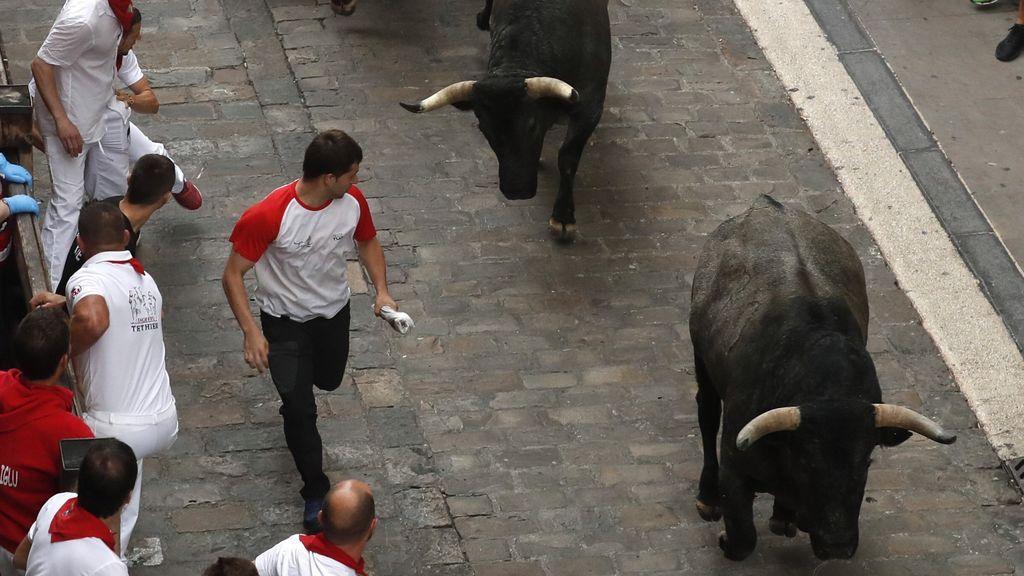 La toros de José Escolar dejan el encierro más rápido de este San Fermín