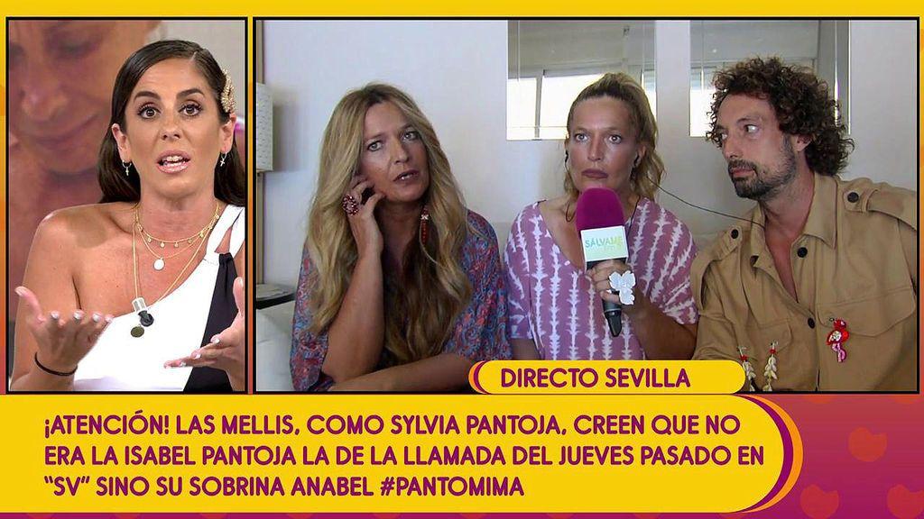 """El cabreo de Las Mellis con Anabel Pantoja despierta el asombro de Jorge Javier: """"Chicas, ¿estáis bien?"""