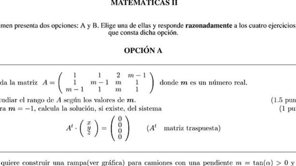 El examen de mates de Valencia sí era un hueso: su nota media es de 4,5, suspenso general