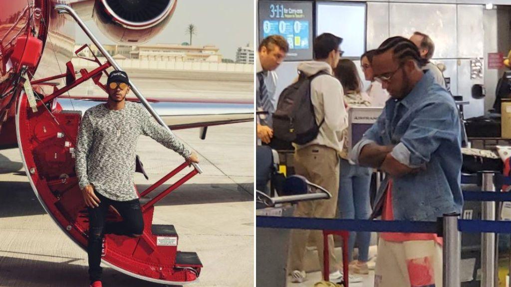 Lewis Hamilton tiene que hacer cola para embarcar en el avión tras vender su jet privado de 25 millones