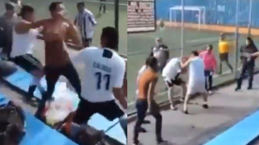 Unos padres se lían a golpes protagonizando una batalla campal en un partido de fútbol infantil en México