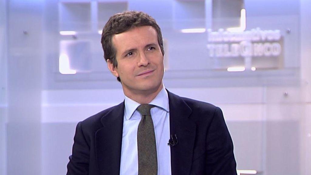 Pablo Casado será entrevistado esta noche por Pedro Piqueras en Informativos Telecinco a partir de las 21h