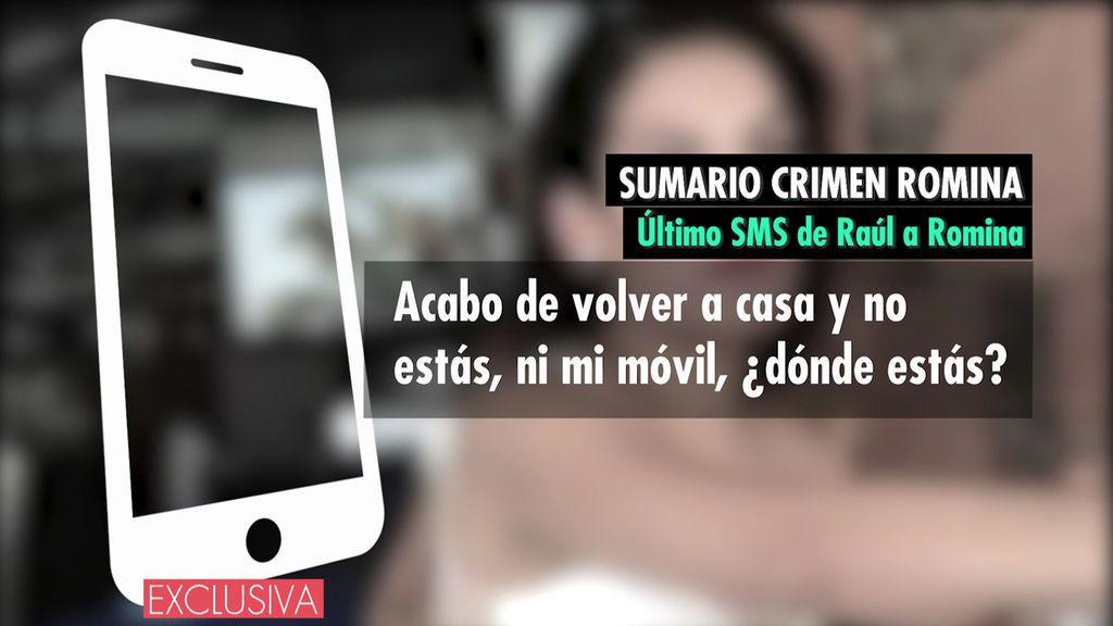 Mensaje Raúl a Romina