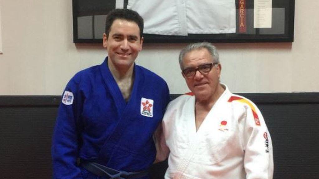 García Egea con su kimono de judoka