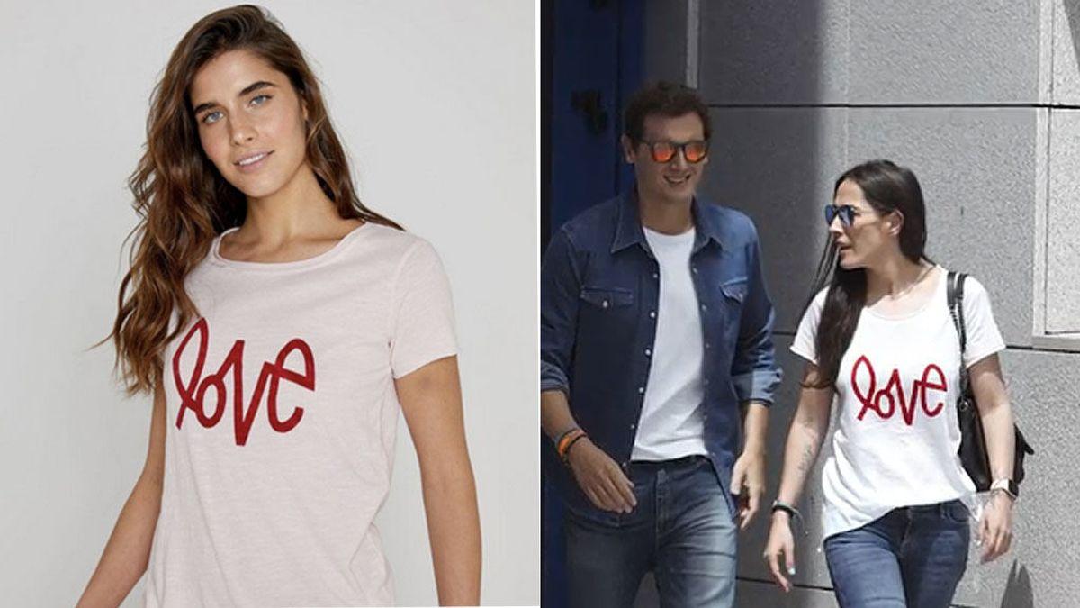 Todo sobre la camiseta 'love' que Malú ha usado para salir del hospital con Rivera y confirmar relación