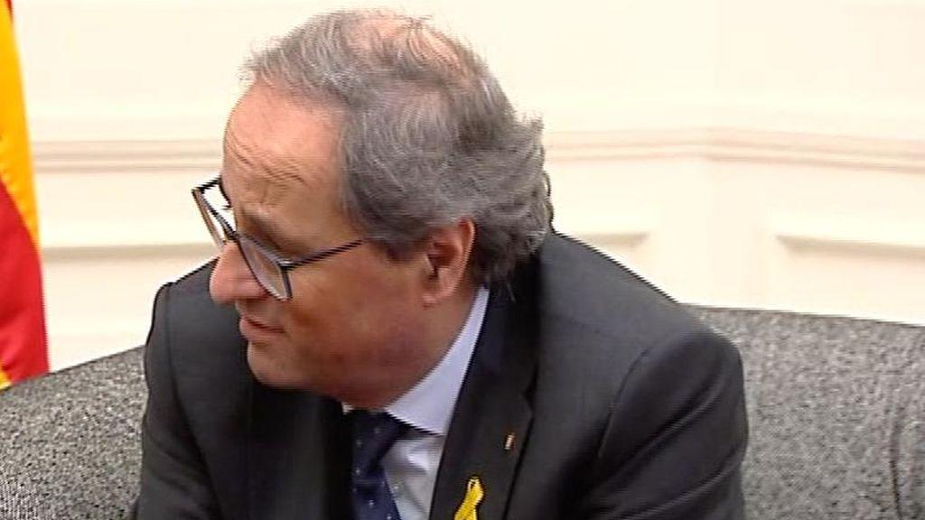 El juez envía a juicio a Joaquim Torra por negarse a retirar los lazos amarillos