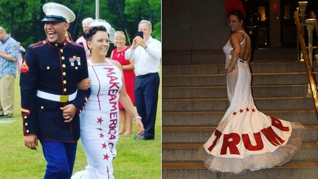 Audra, una fanática de Trump hasta en el día de su boda