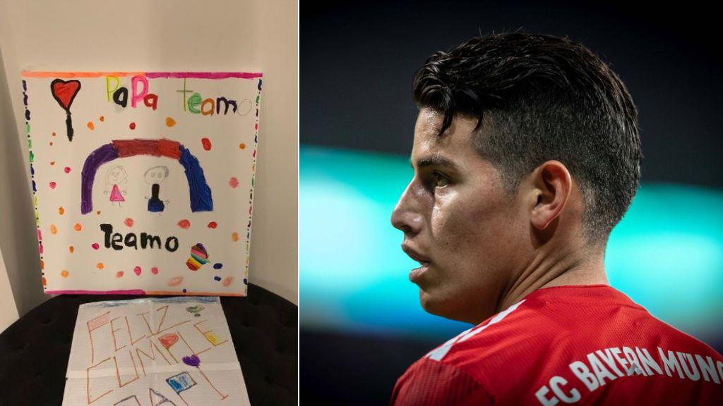 """El emotivo regalo de cumpleaños de la hija de James Rodríguez: """"Papá te amo"""""""