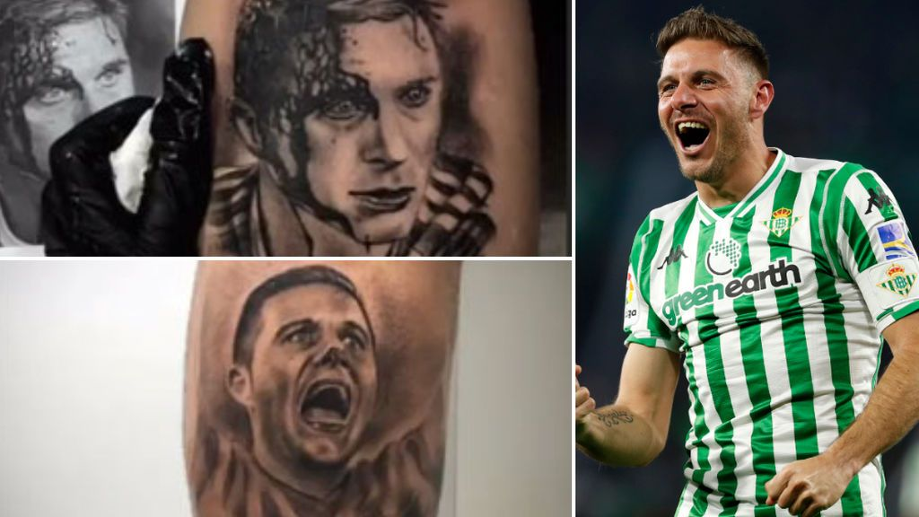 Joaquín en la piel: El futbolista del Betis revoluciona las redes sociales con los mejores tatuajes de su cara