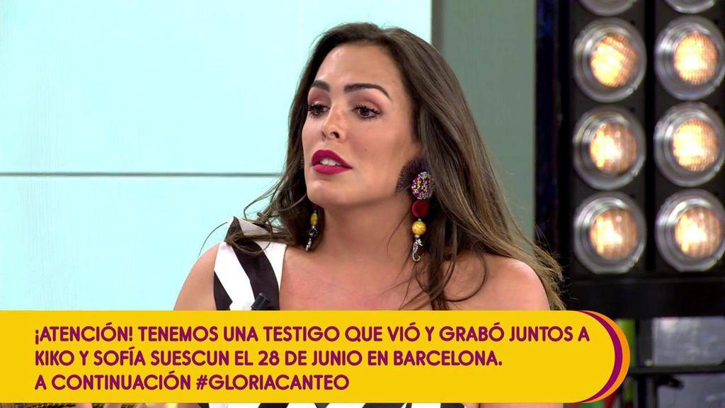 Los colaboradores de 'Sálvame' se enfrentan a Amor por su mensaje a Kiko Jiménez, ex de Gloria Camila