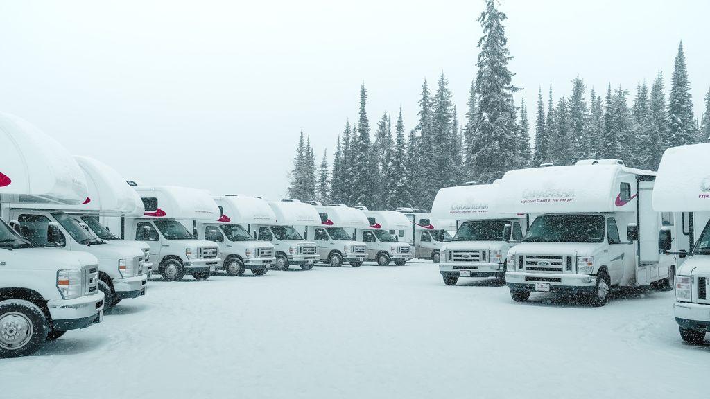 Caravanas en la nieve