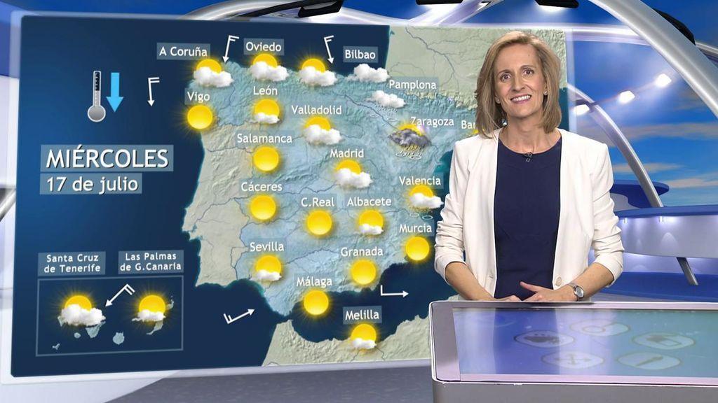 Saca el paraguas: el miércoles las nubes irán a más y descargarán tormentas en el norte peninsular