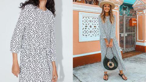 encontrar el precio más bajo diseño encantador precios de liquidación Análisis del vestido de lunares blanco y negro que arrasa en ...