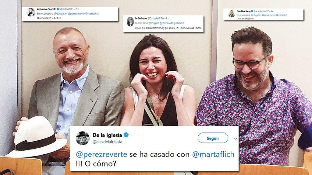"""La foto de Marta Flich y Pérez Reverte que ha revolucionado Twitter: """"¿Se han casado?"""""""