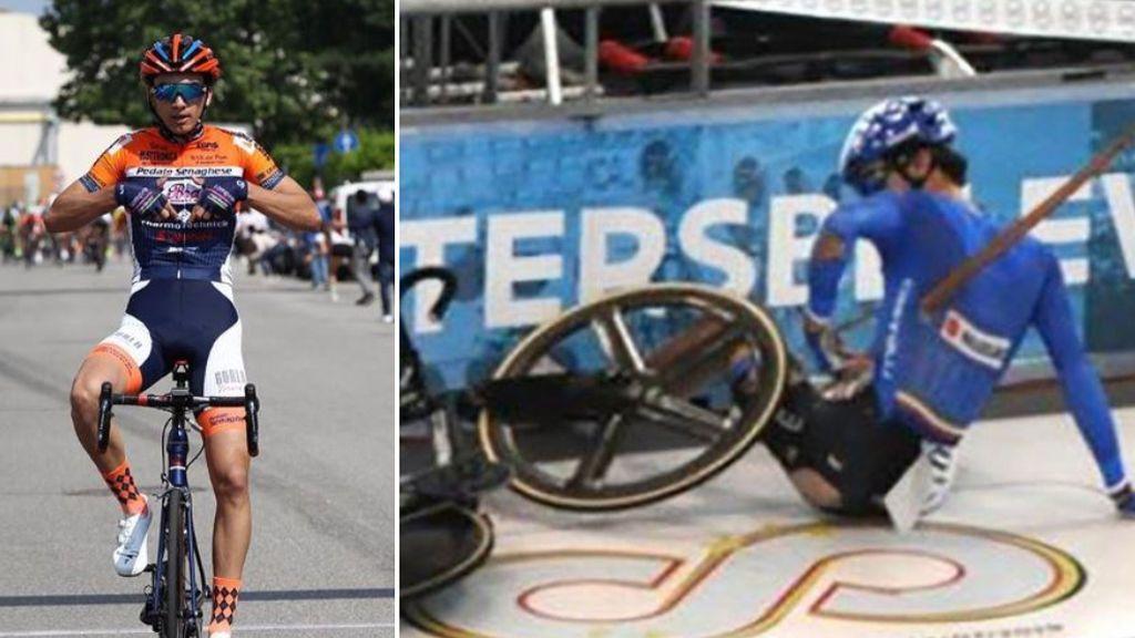 Un ciclista italiano sufre una perforación de pulmón provocado por una pieza del parquet del velódromo donde competía