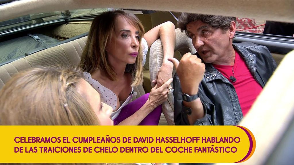 """KITT, el coche fantástico, es testigo de la conversación entre María Patiño y Antonio Montero sobre Chelo García Cortés: """" Creo que he perdonado demasiadas cosas"""""""