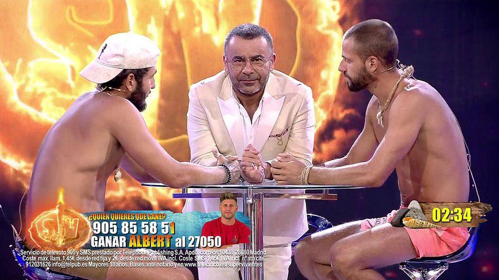 La entrevista final de Omar Montes y Albert con Jorge Javier