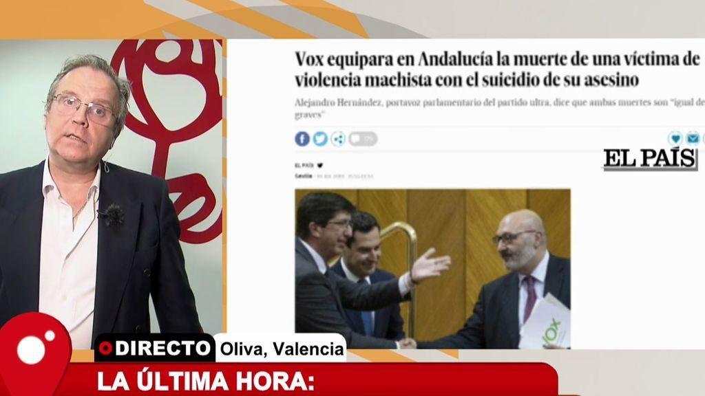 """Carmona, al portavoz de VOX en Andalucía: """"Se puede ser de derechas o de izquierdas, pero no se puede ser gilipollas"""""""