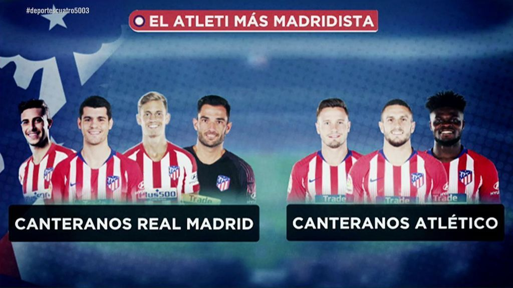 El Atlético 'más madridista' de su historia: Hay más canteranos blancos que rojiblancos