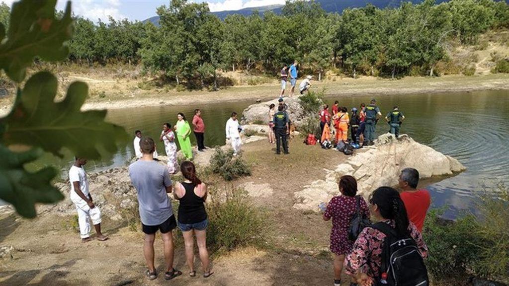 Rescatan el cadáver del menor de 15 años que se ha ahogado en el pantano del Pontón (Segovia)