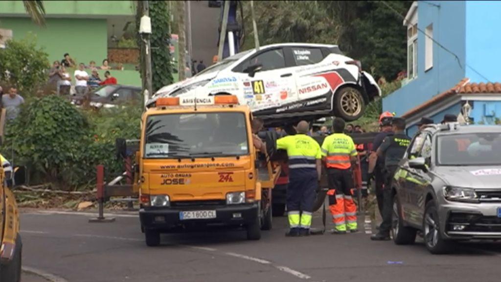 Muere un espectador tras ser arrollado por un coche en el Rallye Ciudad de La Laguna