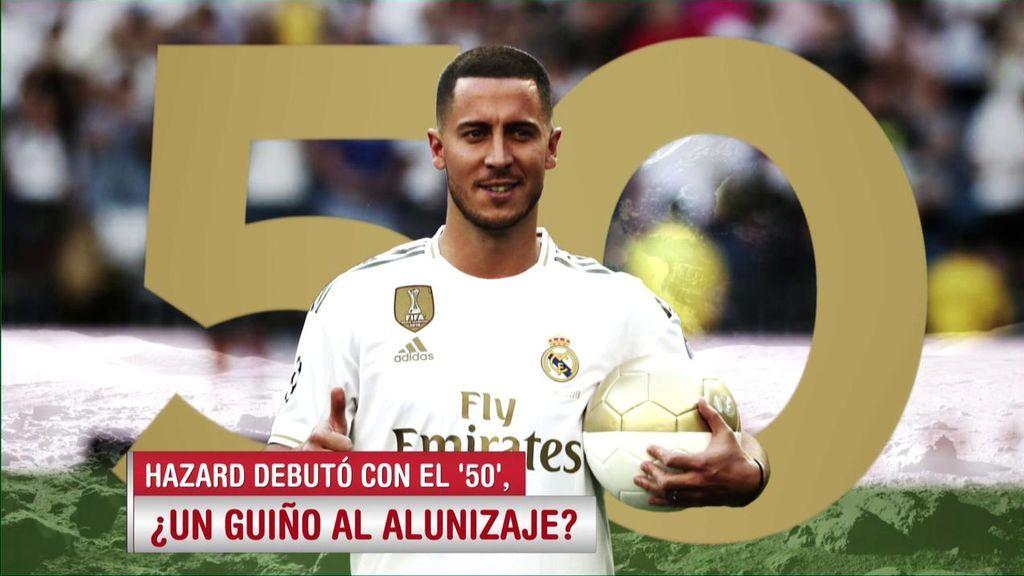 El guiño de Hazard al aniversario de la llegada del hombre a la luna: Debut con el Real Madrid con el número 50