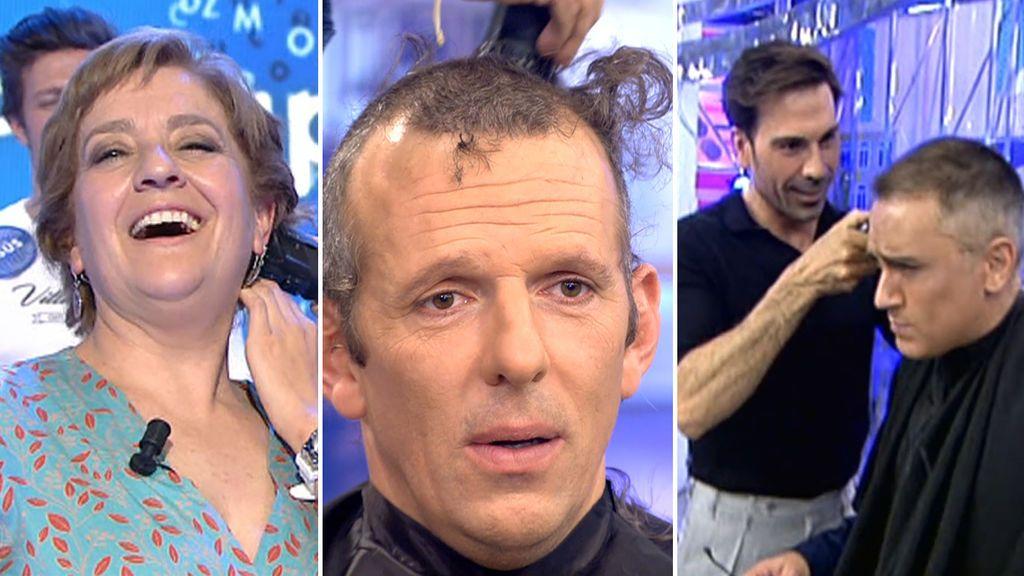 Los cortes de pelo míticos en directo en Telecinco