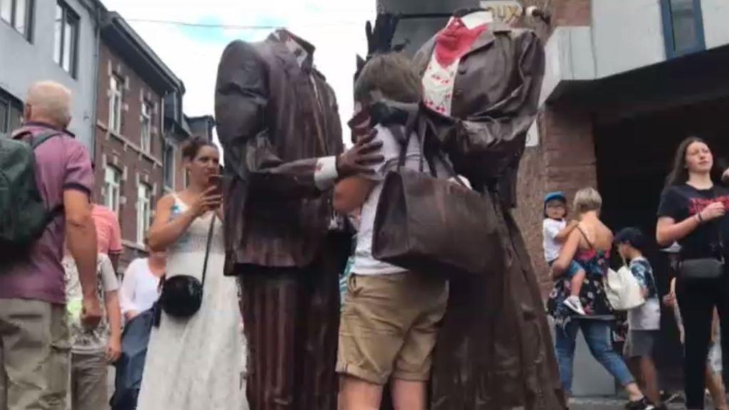 Las estatuas vivientes más estrafalarias toman Bélgica