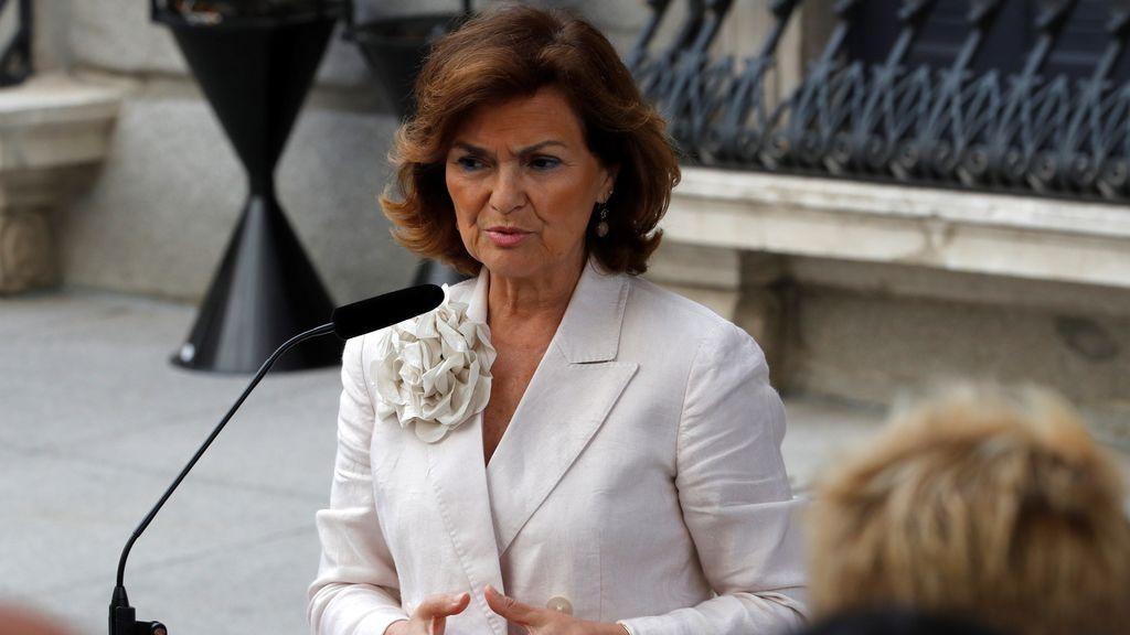 Carmen Calvo compadece para afear la actitud de Iglesias pero abre la puerta a continuar dialogando