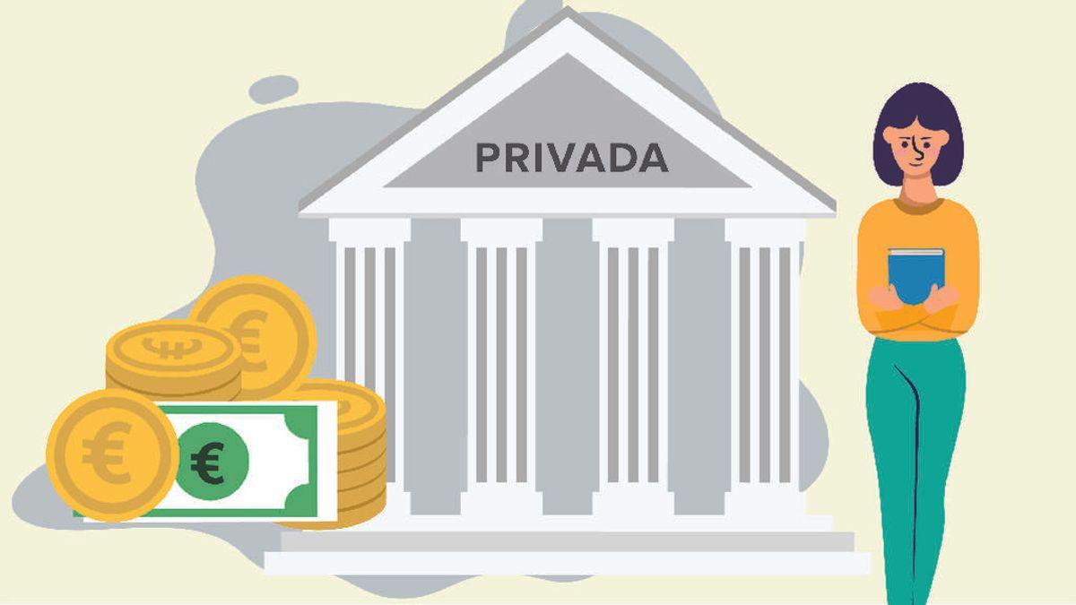 Universidad privada: 10.000 euros al año como poco
