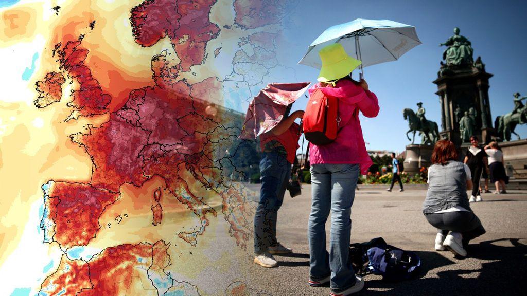 Infierno en Europa: el jueves se alcanzarán nuevos récords absolutos de temperatura
