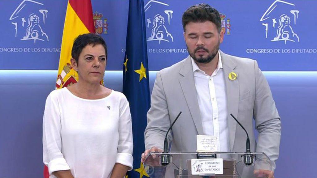 ERC y Bildu se abstendrán y piden a la izquierda española que pacte como lo hace en Cataluña