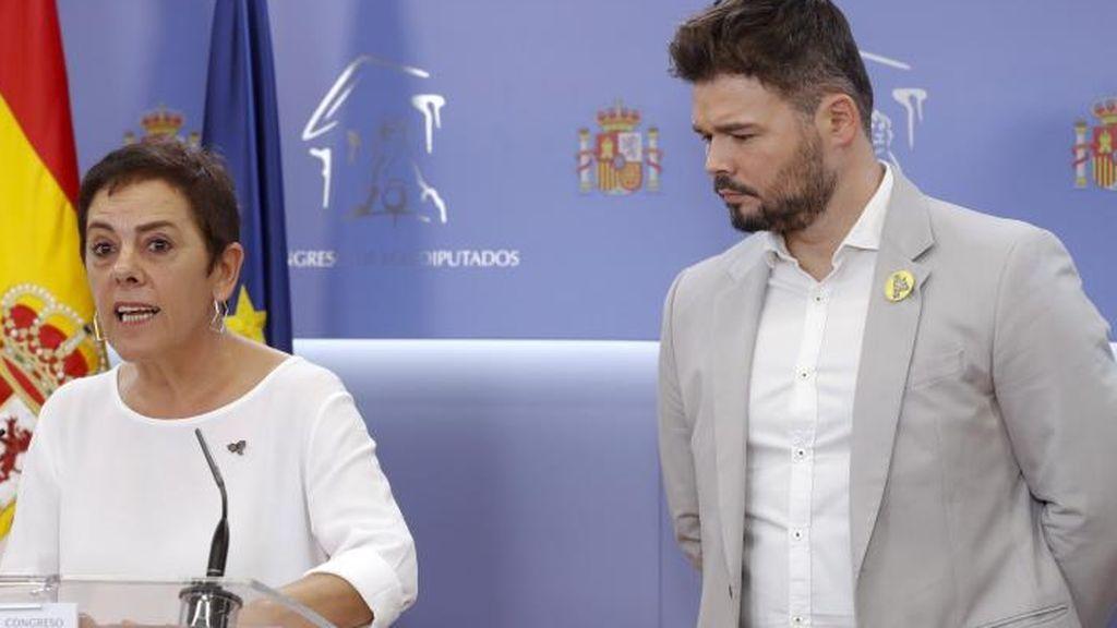 ERC y Bildu se abstendrán en la investidura de Sánchez